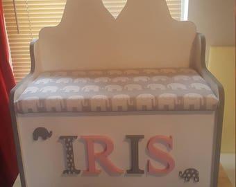 Children's bench seat toy box