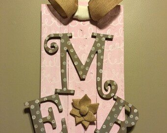 Wooden initials decor
