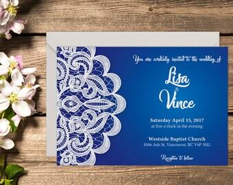 Printed Classic Wedding Invitation, Classic Wedding, Indian Wedding, Henna Invitation, Printable Wedding, Printed Wedding invitation