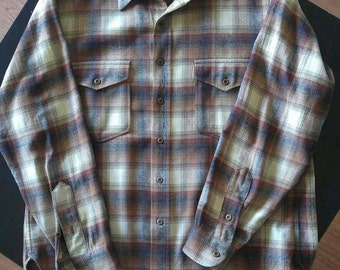 Vintage Pendleton flannel, good condition, 1960s