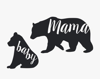 Mama Bear + Baby Bear // Viny Decal