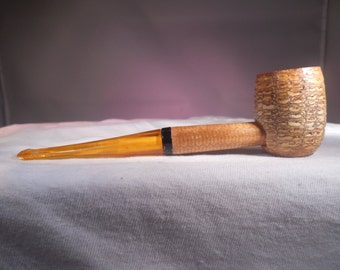 Missouri Meerschaum Corn Cob Smoking Tobacco Pipe, Straight Stem