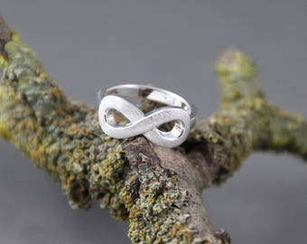 Ring gift infinity sterling silver eternity