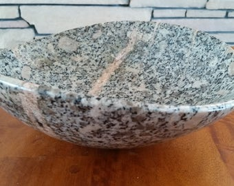 Stone Bowl, Natural Stone Bowl, Carved Stone Bowl, Stone Sculpture, Polished Stone Bowl, Centerpiece Bowl, Decorative Bowl