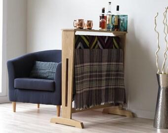 Quilt Stand, Quilt Rack, Blanket Rack, Oregon White Oak, Handmade