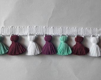 Multi coloured Tassel fringe