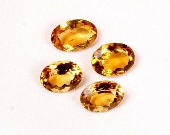 20.30 ct. Natural Beer Quartz faceted oval cut 4 pieces wholesale lot top quality loose gemstones Ki-14941