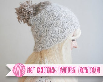 Plait - Cabled Beanie PDF Knitting Pattern - Digital Download