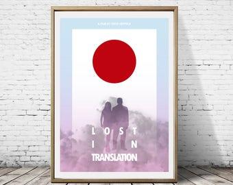 Lost In Translation Alternative Artwork Minimalist Minimal Graphic Movie Film Poster Print Art Deco