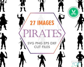 Pirate Svg, Pirate Clipart, Pirate Silhouette, Pirate Decal, Jack Sparrow Svg, Silhouette Cameo Files, Clipart Svg, Commercial Use Svg, Png