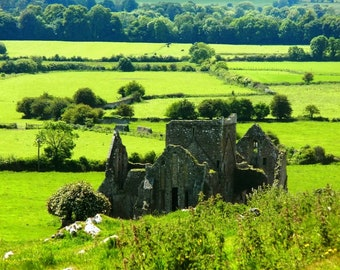 Castle Ruins Countryside Photography Castle Print Ireland Picture