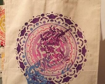 Unicorn canvas tote bag