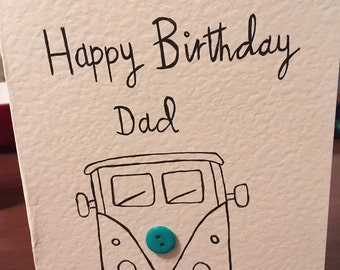 Camper van birthday card