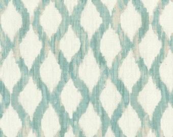 Premium Fabric- Trellis Blue, curtains, throw pillows, roman shades