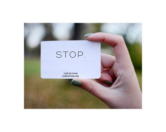 Stop.  -  pack of 25 cards!