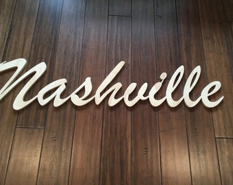 Large Nashville Script Sign