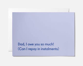 Funny birthday card for dad - Dad birthday card for him - Funny dad card - Funny birthday card - Dad card birthday - Father's day card - ow