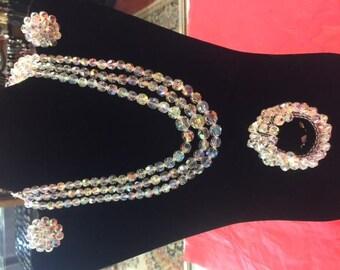 Australian Crystal 3 piece jewelry set