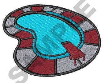 Swimming Pool - Machine Embroidery Design