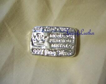 1 oz silver bar 1 troy ounce .999 fine silver.