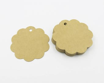 50 pcs., 100 pcs. Kraft paper gift tags, favor tags, merchandise tag, Choose amount