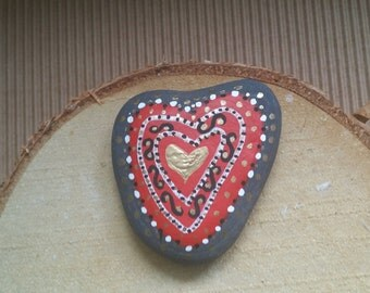 Beautiful Heart Painted Stone/Reiki Infused/