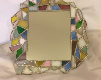 Stained glass Abstract mirror
