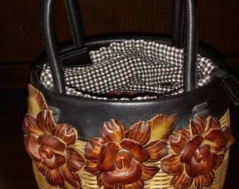 Isabella Fiore Straw Bucket Bag Basket Handbag