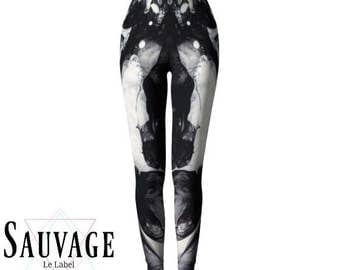Texture #THREE black'n'white Leggings for the wild ones • handmade in Montreal
