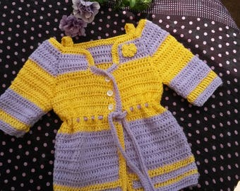 Vest - coat in wool and cotton for girl