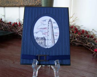 Masculine Lighthouse Handmade Greeting Card