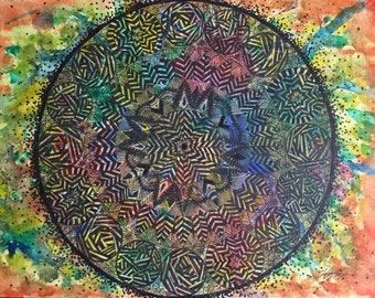 Hand drawn | Zen | Rainbow | Original | Mandala