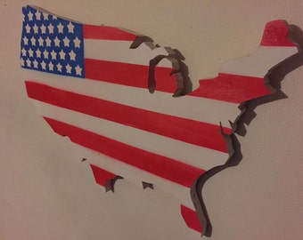US Map / American Flag Wall Hanging