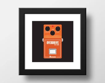 Effects Pedal Overdrive Downloadable Art Print