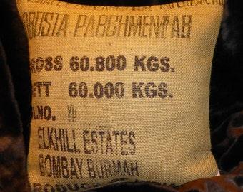 """Pillowcase original coffee bag cushion """"Robusta"""" 50 x 50 cm"""