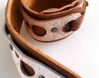 Leather Bracelet, leather cuff, gift for her