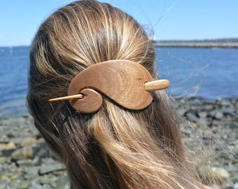 Maple Wooden Hair Stick, Wooden Barrette