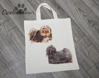 Your dog on a shopping bag of plot