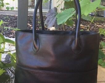 Tote Black Leather Classic