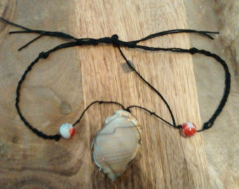 Wire wrapped Shell Necklace