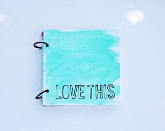 "5""X5""  instagram photo book, scrapbook, mixed paper journal, project life, mini book, photo book,"