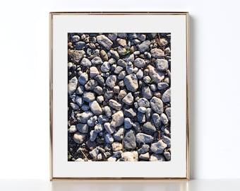 Pebble Art Digital Download Printable Art Beach Art Stone Design Earth Tones Gift For Her Cubical Decor California Wall Art Office Print Zen