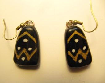 "Glass earrings, series ""Casamance""."