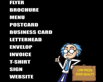 Design business card logo flyer poster go filter