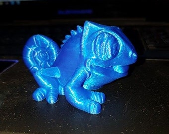 Chameleon toy 3D Printed
