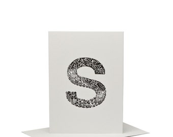 S for Stag - Letterpress Print