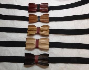 Wood bow tie/bow tie wood