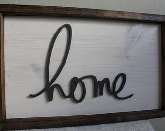 Framed Home Sign