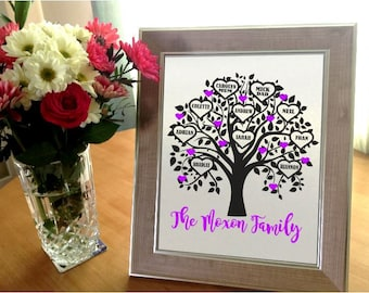 FAMILY TREE PERSONALISED unique gift
