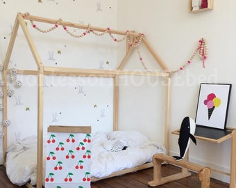 Kids Bedroom House toddler bed house bed tent bed children bed wooden house